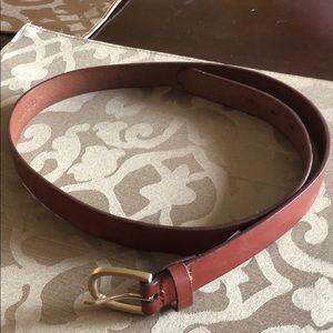 """Lands' End Brown Leather Belt Sz. Medium 41"""""""
